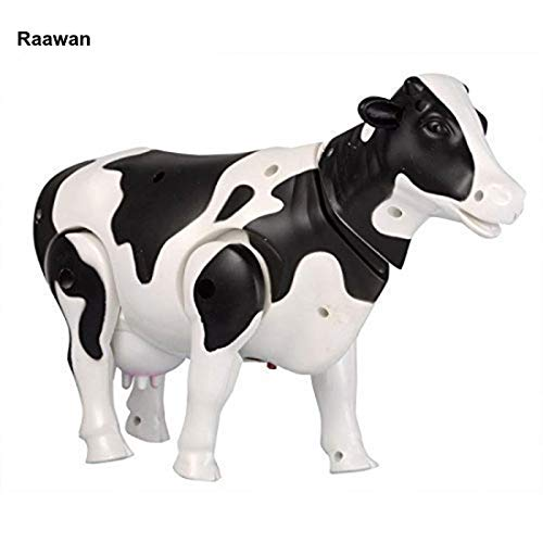 Ashoka's Mart Battery Operated Walking Cow Light and Sound Toy for Kids