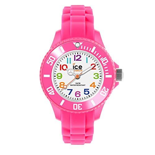 Ice-Watch - ICE mini Pink - Rosa Mädchenuhr mit Silikonarmband - 000747 (Extra Small)