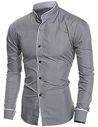 Camicie uomo camicia it Amazon slim fit Camicie casual EwX8Tpqx4