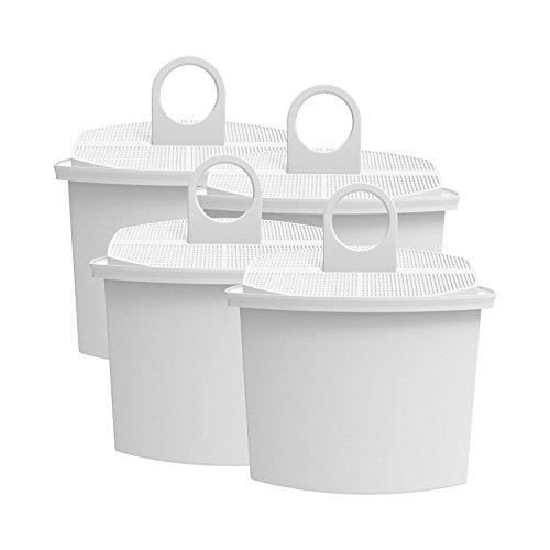AquaCrest AQK-12 Kompatibler Kaffeemaschinen Wasserfilter Ersatz für Braun Brita KWF2; Aroma Select KF130, KF140, KF145, KF147, KF150, KF155, KF160, Aroma Passion KF550, KF560, KFT150, KK148 (4) - Für Kaffee-filter Braun
