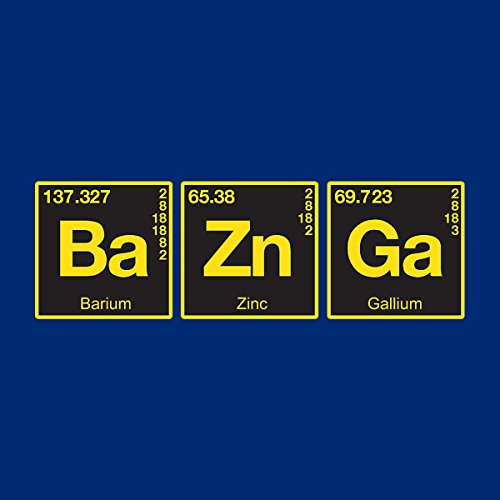 Bazinga Chemical Symbols Big Bang Threory Women's Hooded Sweatshirt Royal Blue