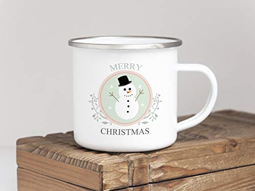 Tasse Merry Christmas SCHNEEMANN Weihnachten Winter Nikolaus Advent ()