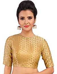 5e835b58b40 Amazon.in  Golds - Blouses   Ethnic Wear  Clothing   Accessories