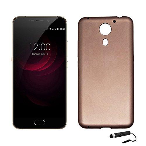 Tasche für UMIDIGI plus / UMIDIGI Plus E Hülle, Ycloud Handy Backcover Kunststoff-Soft Shell Case Handyhülle mit stoßfeste Schutzhülle Smartphone Gold