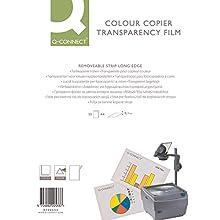 Q-Connect KF00533 Laser Copier Film Colour A4 White (Pack of 50),