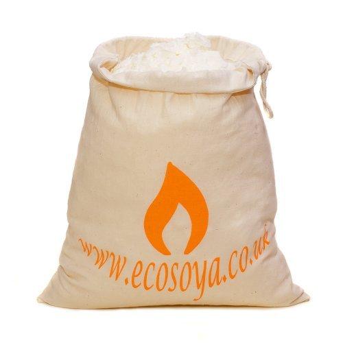 Eco Soja, Behälter mit Wachsflocken für Kerze, Fairtrade, Baumwolle, weiß, 2,5kg -