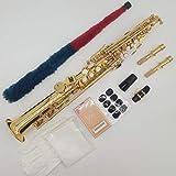 Marke neue Musik FANCIER Club Sopran-Saxophon s-992Gold Lack Saxophon Professionelles Mundstück Patches Pads Blättern Bend Hals