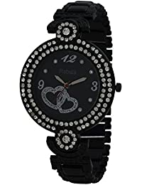 Rabela ® Women's Analogue Black Dial Watch RAB-857