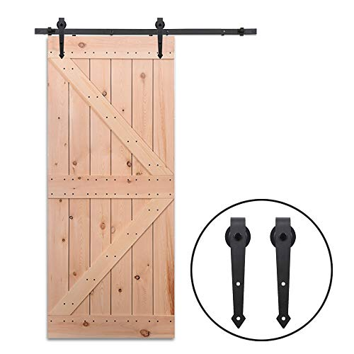 6FT/182cm Schiebe Tür-Hardware-Track-Kit Einzeltür Holztür - Sliding Barn Wood Door Hardware Roller Track Kit For Single Door Arrow Shape - Tür-hardware Schiebe-tür Und