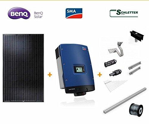 9,900 kWp BenQ Solar GreenTriplex 275 schwarz - Photovoltaikanlage (354)