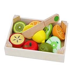 Toys of Wood Oxford Alimenti da Tagliare Giocattolo in Legno di Jumbo – Frutta e Veg di Legno
