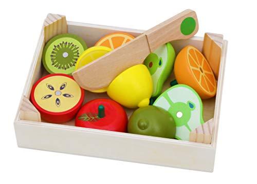 Toys of Wood Oxford Holz Lebensmittel holzobst und gemüse zum schneideni nderküche- schneideobst und gemüse Holz-Holzspielzeug für 3 Jahre -