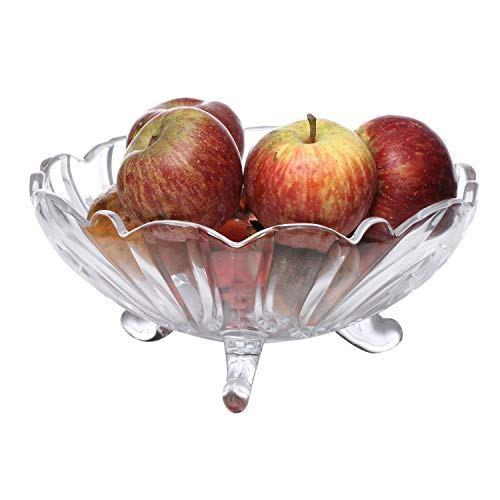 Pure Source India Clear Glass Fruit Bowl.