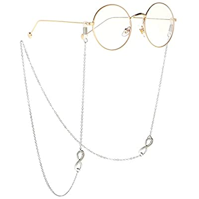 Global Mantra Anti-Slip Eyeglasses Chains Eyewear Neck Cord Metal Spectacles Strap Holder 70 cm for Daily Decorations