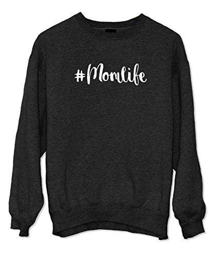 #Momlife Mother Mom Sweatshirt Schwarz Small
