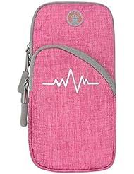 XYQY Waterproof Sport Running Arm Bag Teléfono móvil con ventilación y cómodo Cierre con Cremallera Sólido Bolsa al Aire Libre Sport4
