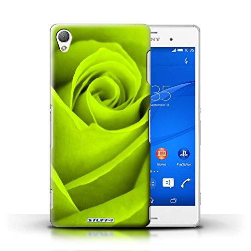 Kobalt® Imprimé Etui / Coque pour Sony Xperia Z3 / Turquoise conception / Série Rose Vert