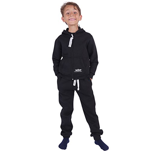 82G1 LIL'Finch Kinder Trainingsanzug Jungen Mädchen Kids Dunkelblau Gr. 134/140