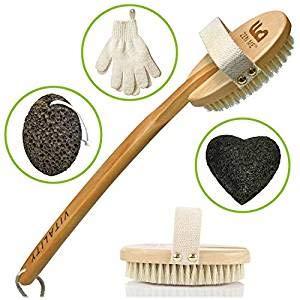El mejor sistema de exfoliación del cuerpo con cepillo para la...
