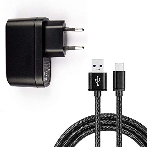 Sweet Tech Caricabatteria 1A Spina Presa Europea Adattatore USB + Cavo Micro USB per Mediacom PhonePad Duo B500 / B400