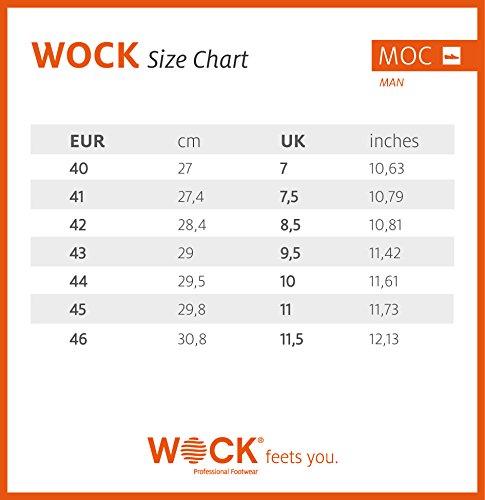 Moc Man-Chaussure professionnelle WOCK-Stérilisable; Antistatique; Antidérapante; Absorption des chocs Bleu Marine