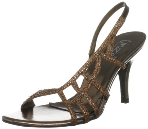 Unze Evening Sandals, Sandali col tacco donna Marrone (Braun (L18206W))