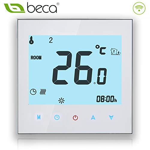 BECA 1000 Series 3/16A Pantalla táctil LCD Agua/Calefacción eléctrica/Caldera Termostato de control...