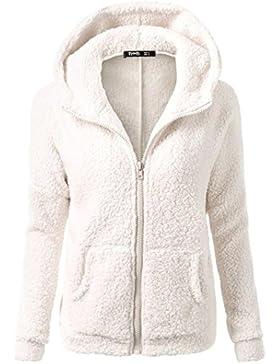 K-youth® Ropa Mujer Invierno Barata Abrigo con cremallera Algodón Chaquetas Ropa de abrigo Sudaderas con capucha...