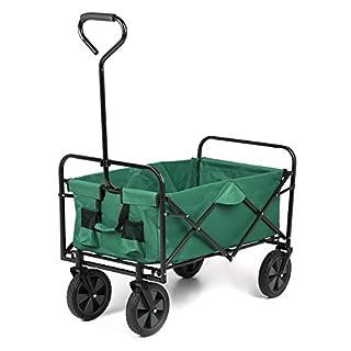 Sekey Chariot de Transport Pliable - Jusqu'à 80 kg - Pivote à 360° - Convient pour Tous Les terrains - Vert