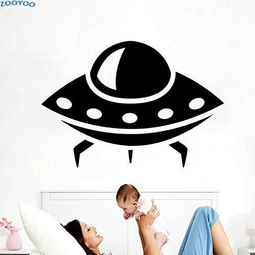 Alien Space Wandaufkleber UFO Wohnkultur Wandtattoos Für Kinder Abnehmbare Dekoration Für Kinder Schlafzimmer Kindergarten 83 cm x 58 cm M -