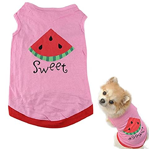Culater® Summer Cute Small Pet Dog Puppy Cat Clothes Watermelon