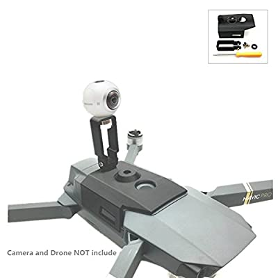 Hensych 360 Degree Panorama Camera VR Camera GoPro Sports Action Camera Mount Bracket Upper Holder for DJI Mavic Pro