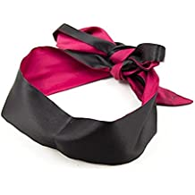 Eye Mask, Sleeping Blindfold And Games Toy for Women (black and red)