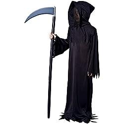 SEA HARE Disfraz de Halloween Disfraz de Demonio Negro para niños (M:7-9 años)