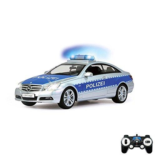 Preisvergleich Produktbild Mercedes Benz E350 Coupe Polizeiauto - Original RC ferngesteuertes Auto mit Sound-, Vorder- und Rücklichtfunktion und Blaulicht, Fahrzeug Modell im 1:16 Maßstab, Ready-to-Drive, Inkl. Fernsteuerung, Neu