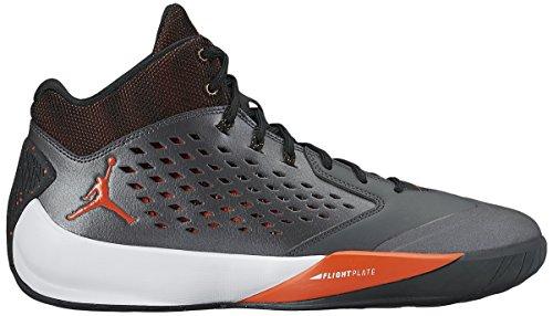 Nike Jordan aumento elevato da ginnastica in pelle Metallic