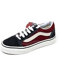 f44a2ff9c7d99f Vans C9238 Sneakers Bimbo Old Skool Blu Bordeaux Shoe Kid