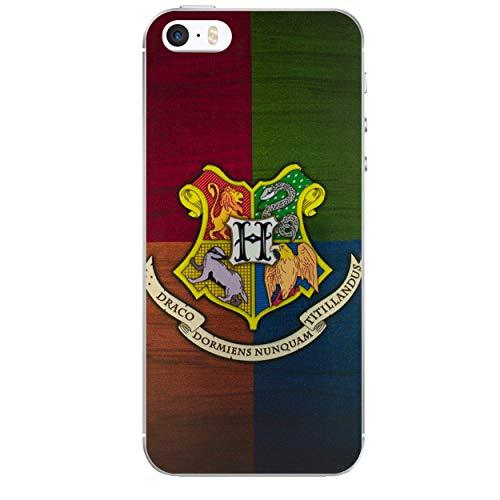iPhone 5/5s Harry Potter Häuser Silikonhülle/Gel Hülle für Apple iPhone 5s 5 SE/Schirm-Schutz und Tuch/iCHOOSE/Hogwarts