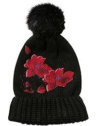 Desigual Red Schwarze Blumen