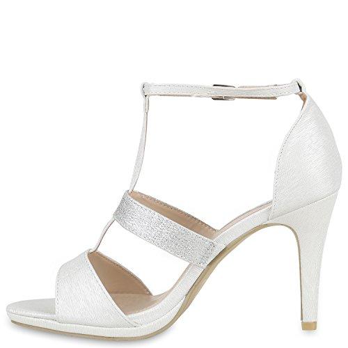 Party Damen Sandaletten | Glitzer High Heels | Plateau Sandaletten Strass Nieten | Damenschuhe Snake Lack | Stilettos Schnallen Schuhe Silber Glitzer