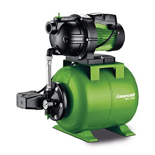 Stürmer Cleancraft 7522100 Cleancraft Hauswasserwerk, Fördermenge 76 l/h, für Haushalt, Tank 19 Liter, selbstansaugende Pumpe - GP 1105C -
