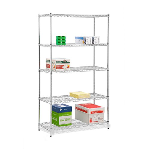 honey-can-do-shf-01441-5-tier-storage-shelve-holds-800-pounds-per-shelf-chrome-72-inch