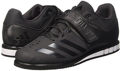 adidas Herren Powerlift.3.1 Hallenschuhe, Schwarz (Utility core BlackFootwear White 0), 43 13 EU