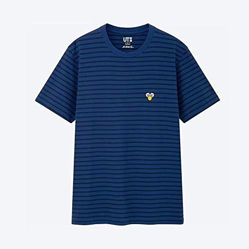 JXSHQS Herren T-Shirt Gemeinsam Sesame Street Series Kurzarm Student Persönlichkeit Paar Stil Trendy Street Jacket Herren-Halbarm (Color : 639Blue, Size : M)