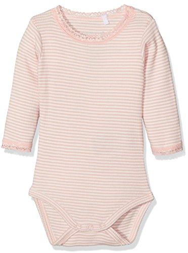 NAME IT Baby-Mädchen Nitgeline LS Body F NB Mehrfarbig (Evening Sand), 68