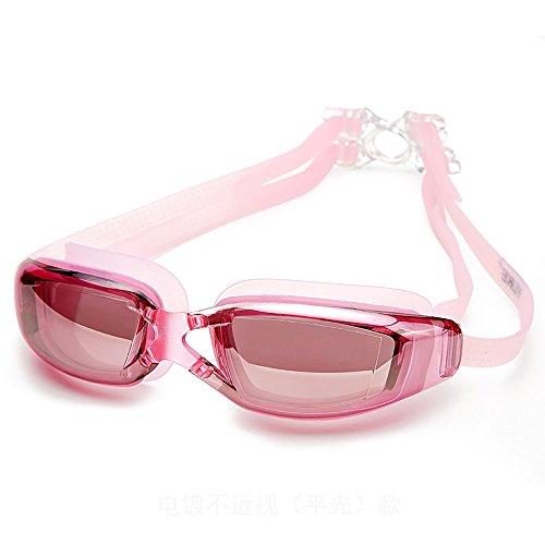 Foluton Schwimmbrillen Schwimmbrille verspiegelte Taucherbrille mit kristallklarem Anti-Nebelglas,Taucherbrille mit wasserdichter bequemer Passform für Erwachsene