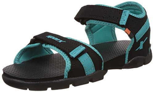Sparx Women's Black and Sea Green Fashion Sandals - 4 UK/India (37 EU)(SS-0109)  available at amazon for Rs.650