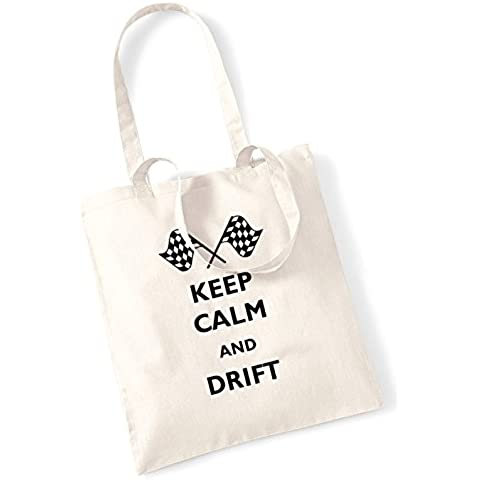Keep calm and drift tote bag