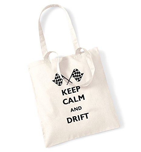 Keep calm and drift tote bag natur