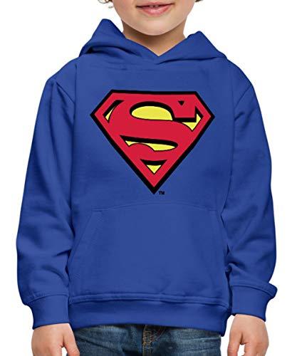 DC Comics Superman Logo Original Kinder Premium Hoodie, 134/146 (9-11 Jahre), (Wirklich Coole Superhelden Kostüm)